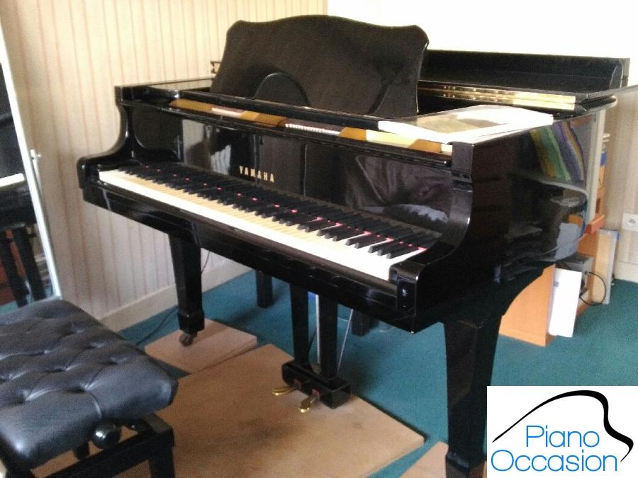 piano de belle sonorit yamaha c3 183cm laqu noir piano occasion. Black Bedroom Furniture Sets. Home Design Ideas