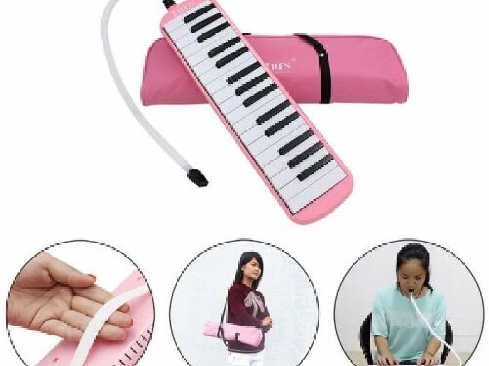 32 Keys Children Accordion Musical Instrument Harmonica Blowpipe Mouth Or DY
