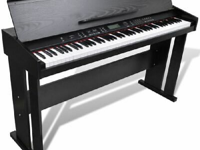 vidaXL Électronique Clavier Piano Numérique Digital Piano 88 Touches Support