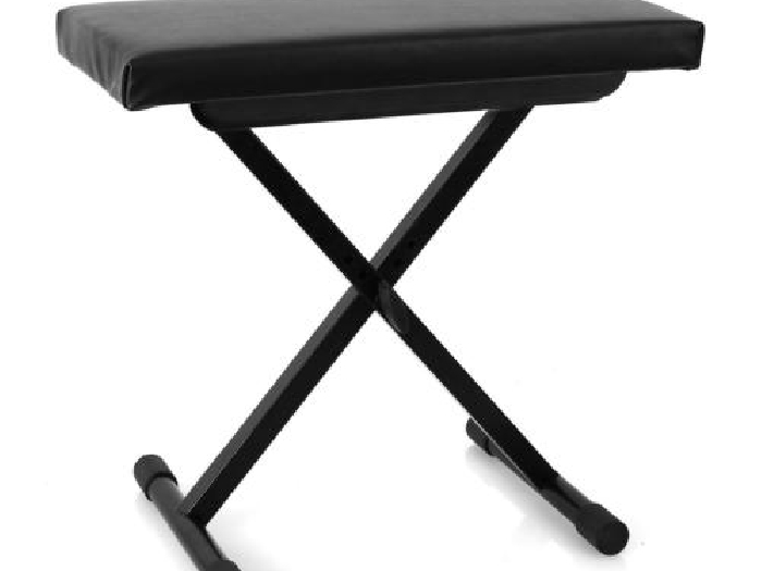 siege pliable tabouret piano synthe clavier noir hauteur reglable de 45 a 55cm piano occasion. Black Bedroom Furniture Sets. Home Design Ideas
