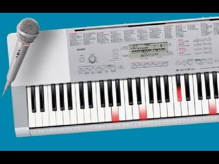 Piano synthétiseur avec touches lumineuses Casio LK-280 avec micro