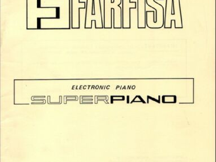 FARFISA SUPERPIANO Service Manual Schematic Diagrams SUPER PIANO 115402 Schema