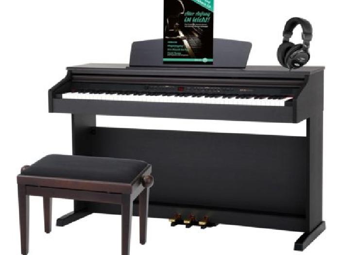 piano numerique digital 88 touches clavier usb midi set casque banc bois de rose piano occasion. Black Bedroom Furniture Sets. Home Design Ideas