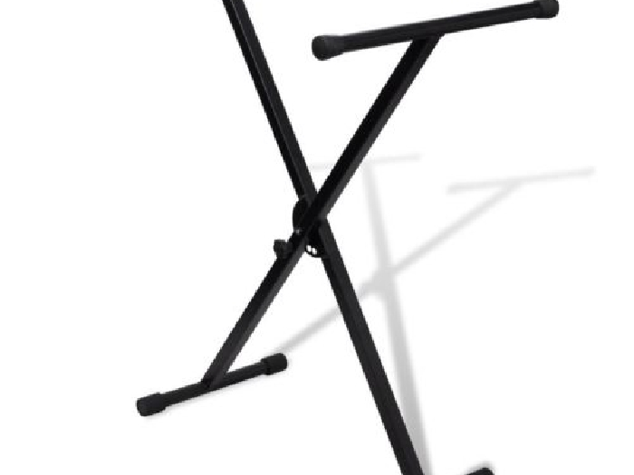 vidaXL Support clavier réglable mono-barre enxsupport piano stand pied clavier#