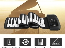 61 Key Roll Up Piano Electronic Training Tool Professional Musical Instrument GP