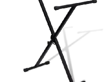vidaXL Support clavier réglable mono-barre enxsupport piano stand pied clavier