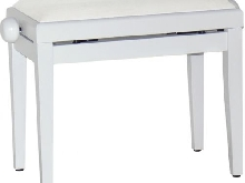 Banquette piano Blanc - Velours Blanc - Stagg - PB40 WH P V/WH