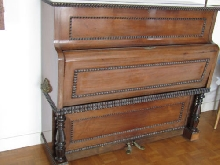 Rare Piano droit à  clavier rabattable  A. Blondel