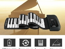61 Key Roll Up Piano Electronic Training Tool Professional Musical Instrument L9