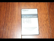 Roland D-50 / D-550 Memory Card in excellent condition. PN-D50-01