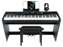 88 Touches Piano Numerique Stage Piano MIDI USB Set Clavier Support Banquette