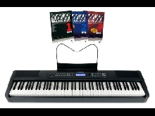88 Touches Piano Numerique Stage Piano MIDI USB Clavier 128 Voix 8 Drums Sounds