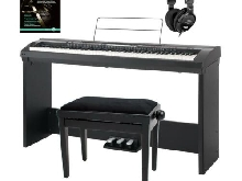 PIANO DIGITAL ELECTRIQUE E-PIANO SET 88 TOUCHES 600 VOIX BANC CASQUE 3 PEDALES