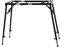 SUPPORT DE CLAVIER NUMERIQUE TABLE PIANO DIGITAL HAUTEUR REGLABLE 65-110CM NOIR