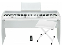 Pack Korg B1 blanc - Piano numérique 88 notes + Stand + Banquette