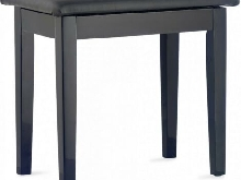 Banquette Piano Stagg PBF23 avec compartiment partitions noir brillant