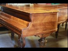 ERARD piano demi queue en marquetterie noyer