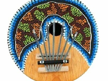 Kalimba Thumb Piano 7 Keys Tunable Coconut Shell Painted Musical Instru K?