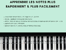 Autocollants Notes Piano Clavier 49 61 76 88 Touches Noires Blanches Kit Complet