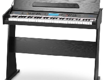 Clavier Numérique Piano Digital Synthetiseur E-Piano 61 Touches Support Noir Set