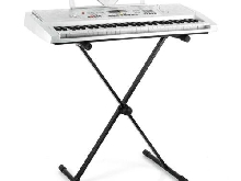 STAND SUPPORT EN X PIANO CLAVIER SYNTHE MALONE PIED PLIABLE REGLABLE 45 A 120CM