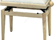 GEWA BANQUETTE PIANO DE LUXE NATUREL BRILLANT ET ASSISE BEIGE