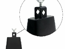 4 Inch Metal Cow Bell Black~