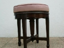 Tabouret de piano bois sculpté Joseph Fitter britannia works antique stool 19eme