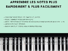 Autocollants pour notes de piano + clavier pour 49 a 88 touche Ebook en francais