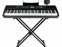 88 Touches Piano Numerique Stage Piano MIDI USB Set Clavier X Support & Casque