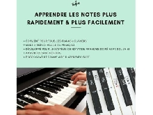 Autocollants Stickers Notes Partition Clavier Piano 49 | 61 | 76 | 88 Touches