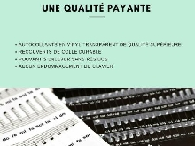Autocollants pour notes de piano + clavier instructions français kit complet