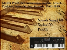 KORG PA4X SET Armenian, Arabic, Greek, Turkish, Azeri Styles, Sounds, PAD +Bonus