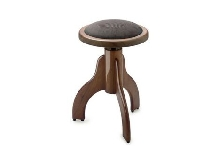 Tabouret Piano Stagg PS35 noyer brillant pelotte velours brun