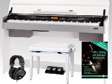 Piano Digital Electronique 88 Touches 210 Styles 3 Pedales Banc & Casques Set