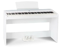 Clavier Piano Numérique Synthétiseur USB MIDI Stagepiano Support Meuble Blanc