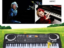 61 Keys Electronic Piano Keyboard With Microphone Children Musical Instrument G8