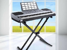 Portable X-Style Keyboard Stand Double Braced Electric Organ réglable Holder