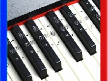Clavier Portable 49 Clés Piano Electronique Portable Partitions Stand Sticker