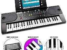 Rockjam 49 Clavier Key Piano Partitions avec stand, Piano Remarque Sticker, Alim
