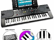 Rockjam 49 Clavier Key Piano Partitions avec stand Piano Remarque Sticker Ali...