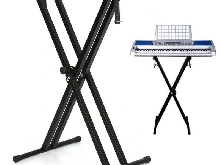 Height réglable Support Pour Clavier Piano Synthétiseur Stand Pied Double Barres