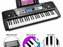 Clavier Piano avec L'Autocollant Note Lutrin de Partitions pou Rockjam 49 Touche
