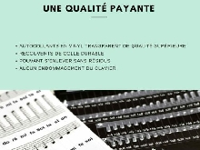 Belfort®? Autocollants pour notes de piano + clavier pour 49,61,76,88 touches