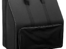 Sac Housse Trolley Flight Case pour Accordeon 96 Basses Roulettes Poignee Noir