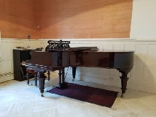 Piano ½ queue, Bechstein, 1901, model V, restauré entièrement