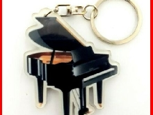 PIANO PORTE CLE! A Queue Collection Instrument Musique Clavier Classic Jazz Noir