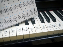 STICKERS PIANO TOUCHES Haute qualité / Touches en français Do Ré Mi Fa Sol La Si