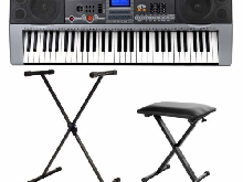 Piano Numerique E-piano Clavier 61 Touches 100 Sons USB Support Banc Set