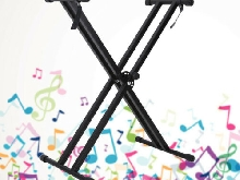 Support de X-Style Keyboard Stand Braced Electric Organ Holder Hauteur réglable
